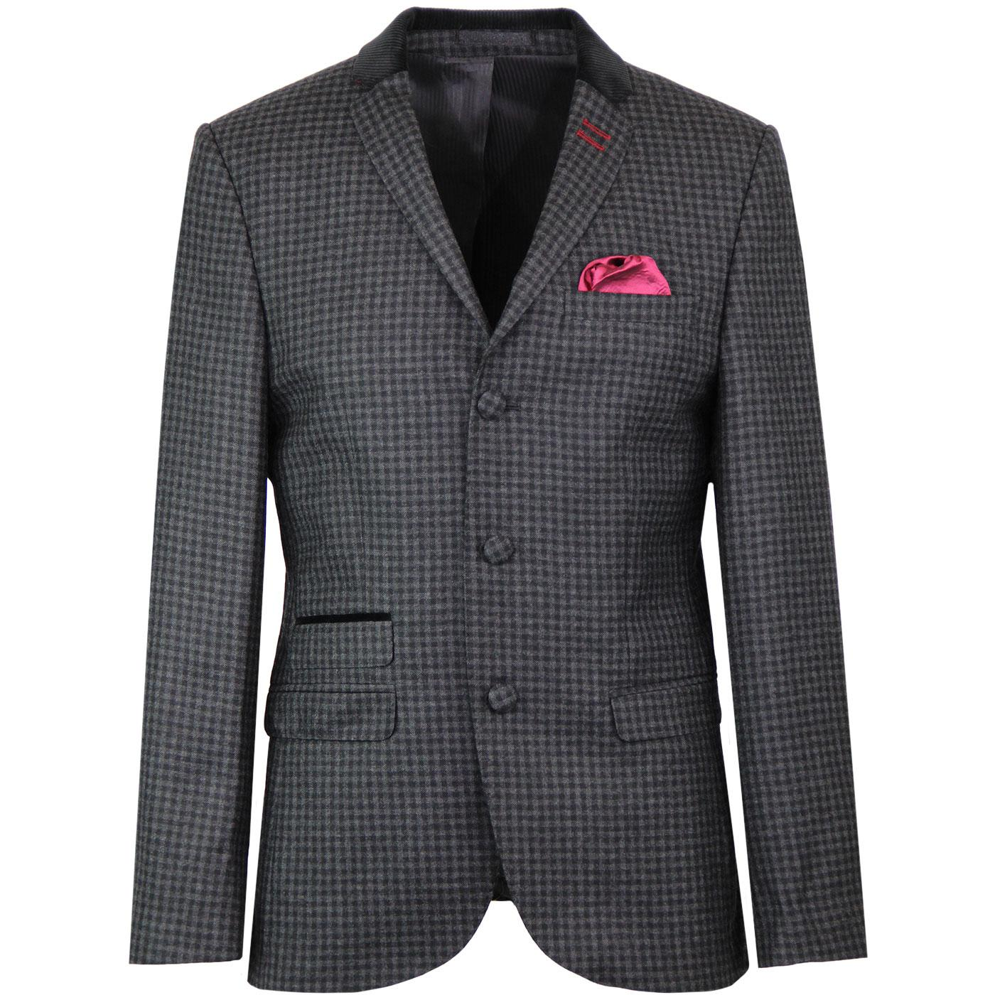 172852af01382 MADCAP ENGLAND Cord Collar Gingham Check Suit Jacket