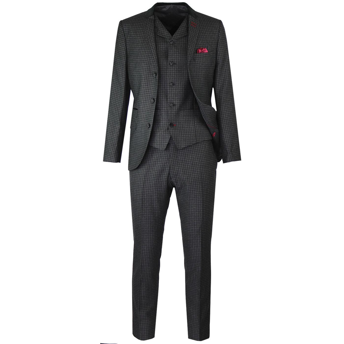 MADCAP ENGLAND Cord Collar Gingham Check Mod Suit