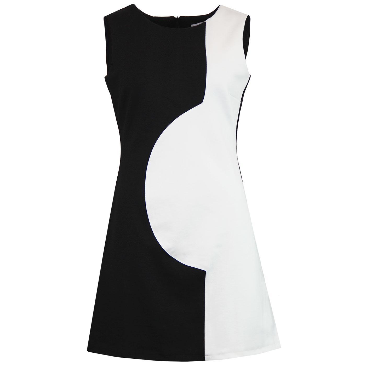 Golightly MADCAP ENGLAND 60s Mod Two Tone Dress