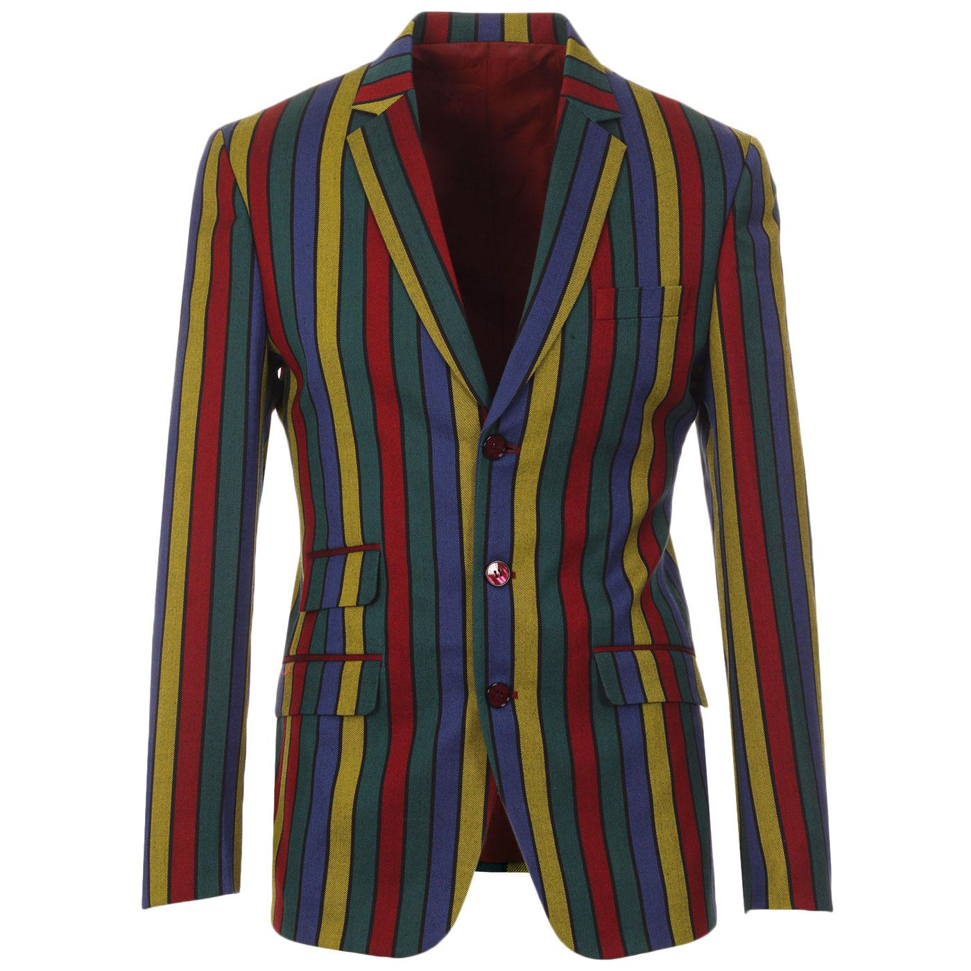 Madcap England Hendrix Stripe Retro Psychedelic 60s Boating Blazer Jacket