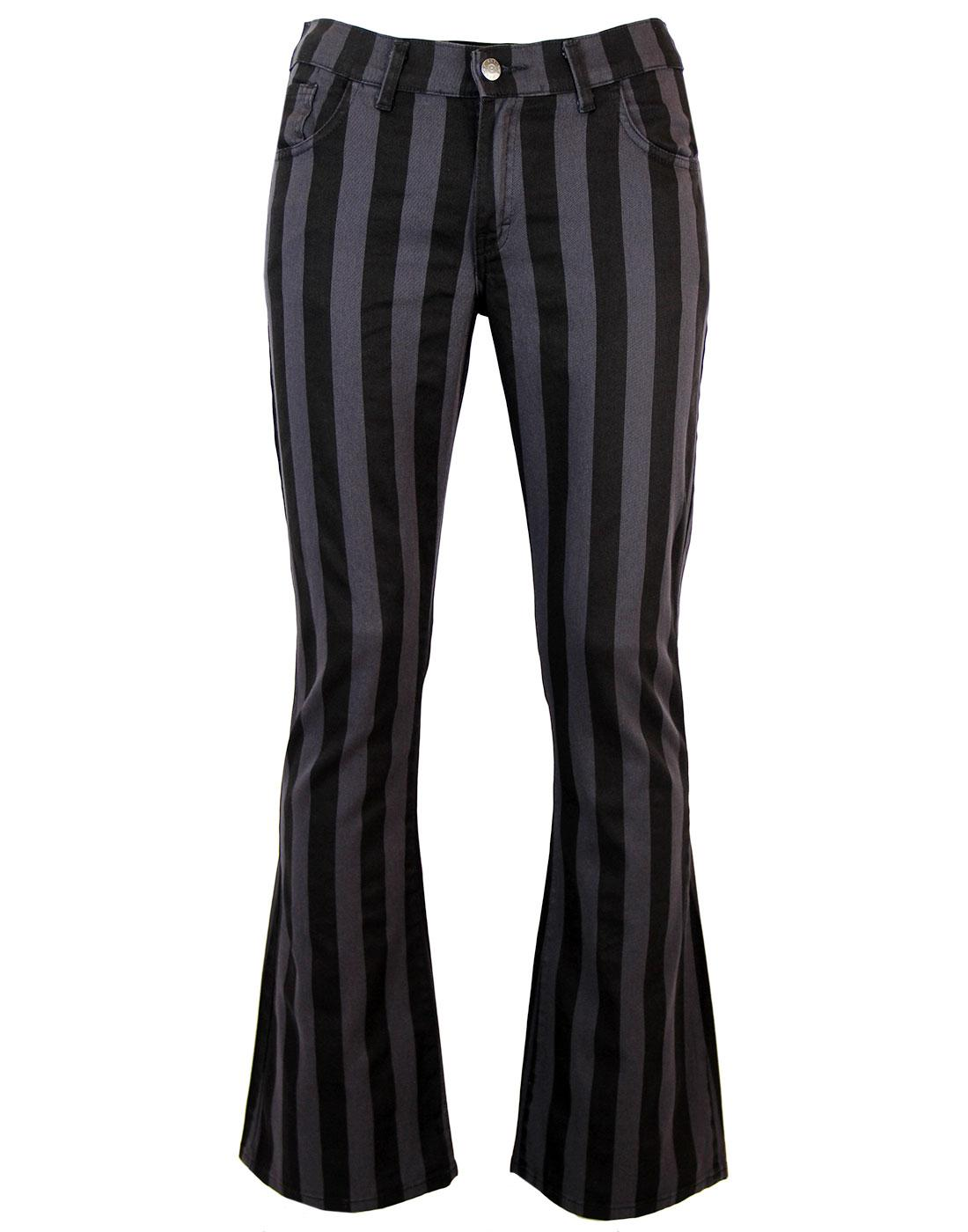 Holy Roller - Retro 60s Striped 70s Indie Flares B