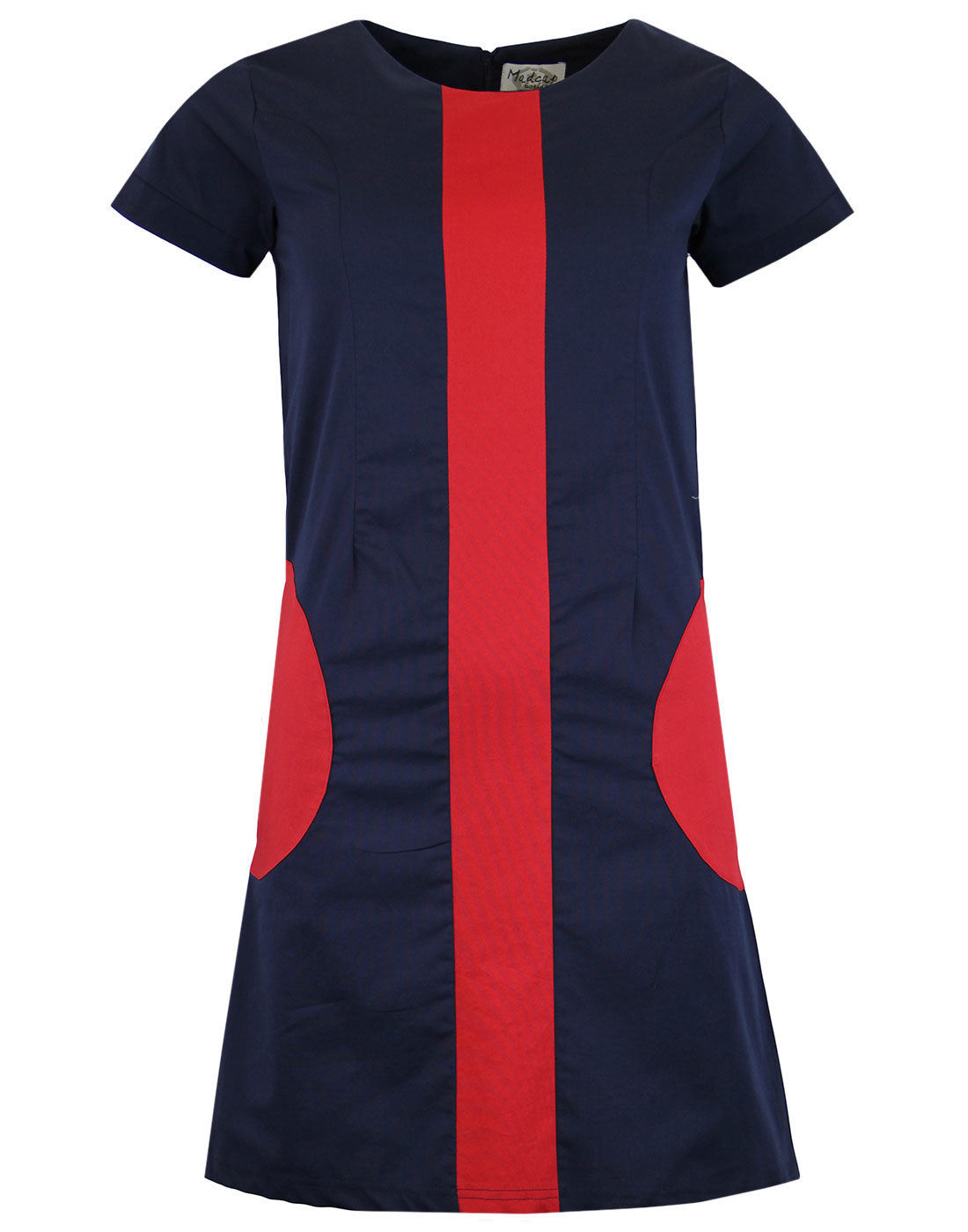 Honey MADCAP ENGLAND Mod Circle Pocket Dress NAVY