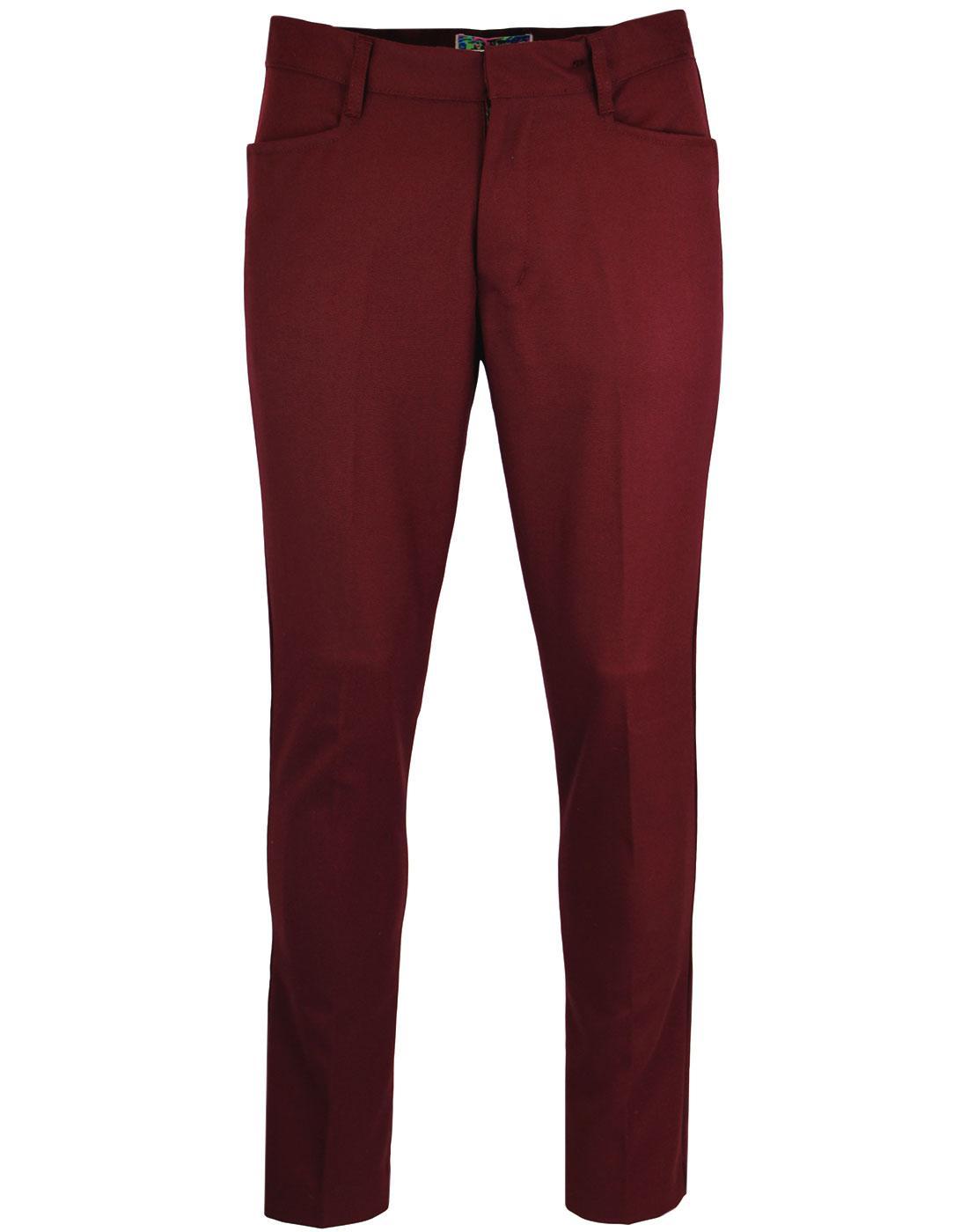 Logan Slim MADCAP ENGLAND Mod Hopsack Trousers Bu