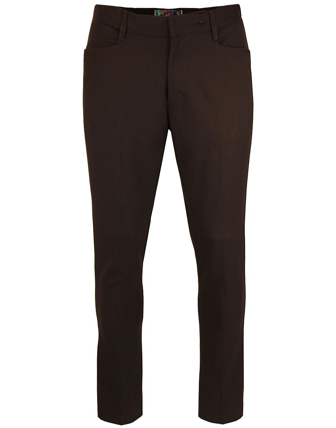 madcap england logan slim hopsack trousers brown