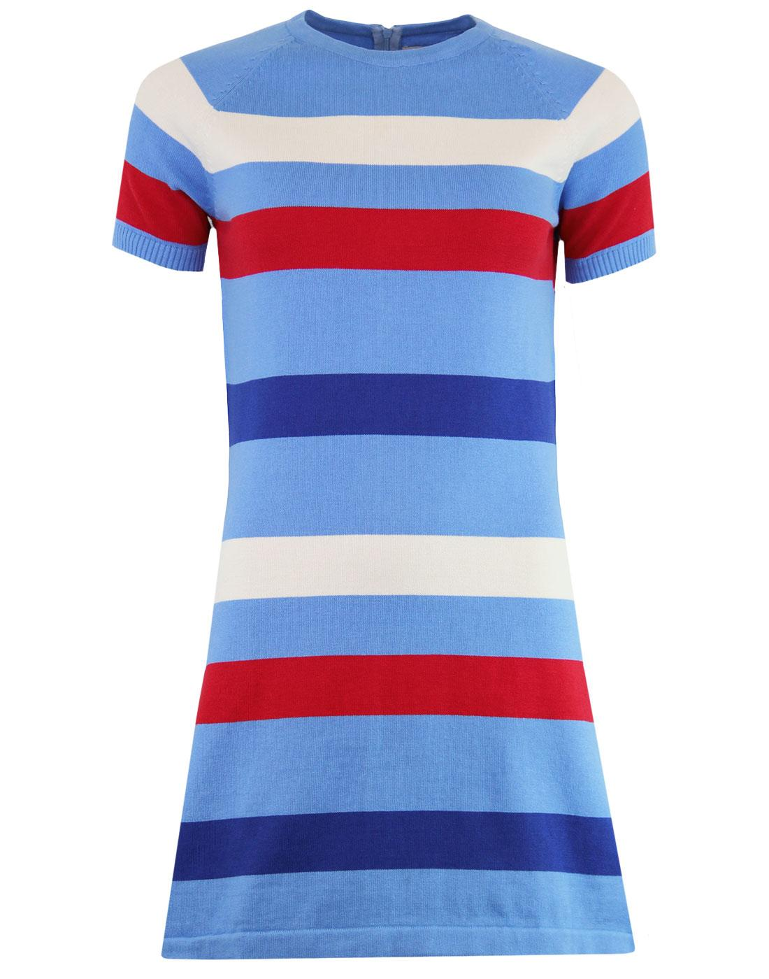 madcap england polly retro 60s mod knit dress surf