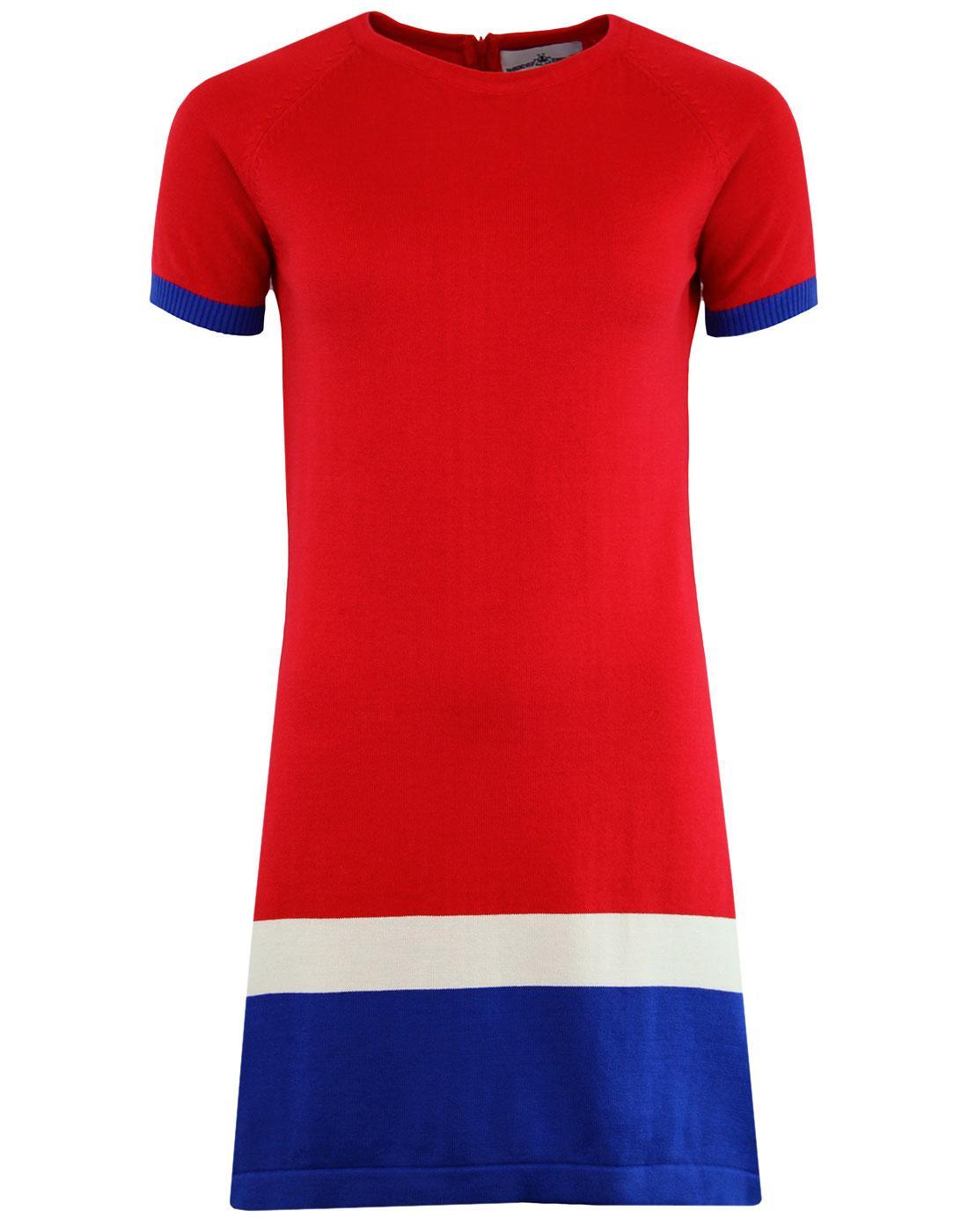 madcap england jenny retro mod knitted panel dress