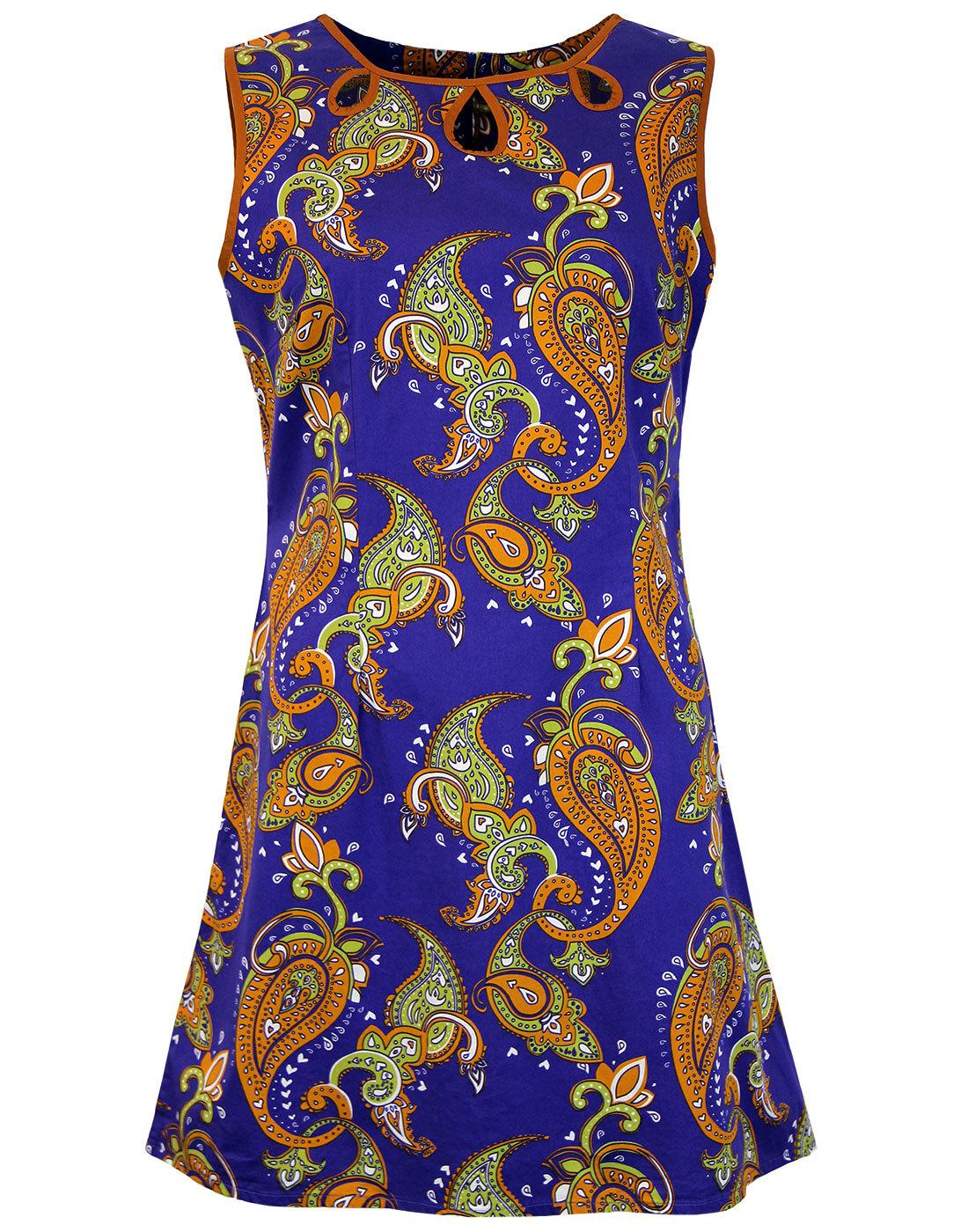 Lazy Daisy Psychedelic MADCAP ENGLAND Mod Dress