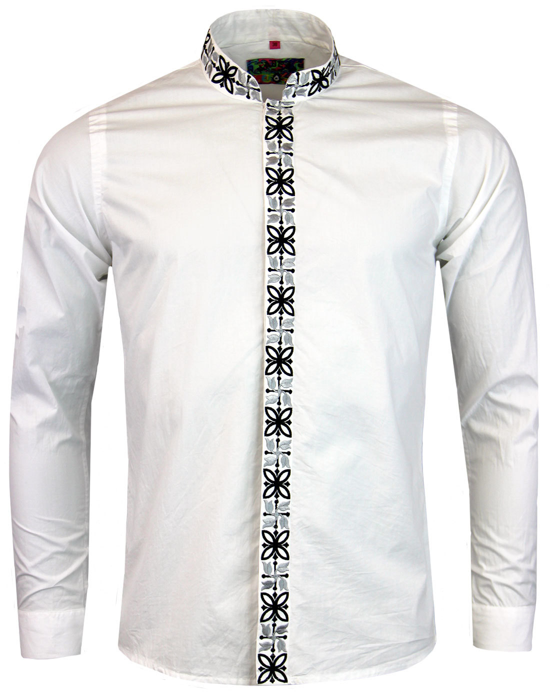 madcap england avory mandarin collar shirt white
