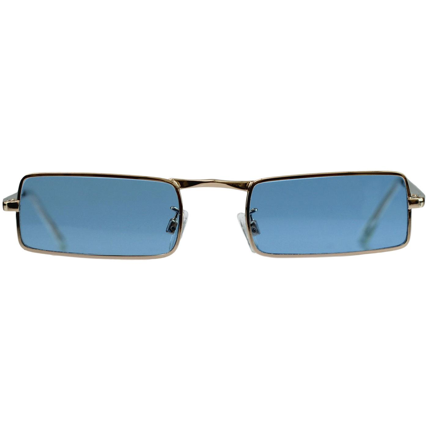madcap england mcguinn mod granny glasses blue