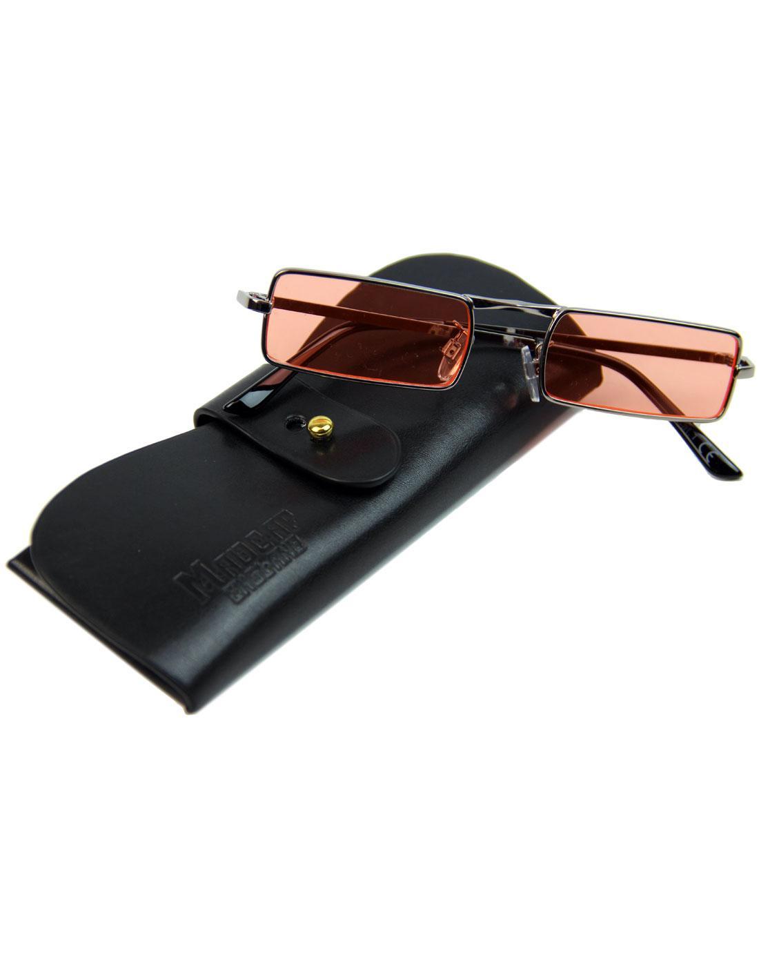 7333630a37 MADCAP ENGLAND McGuinn 60s Mod Psychedelic Granny Glasses Orange