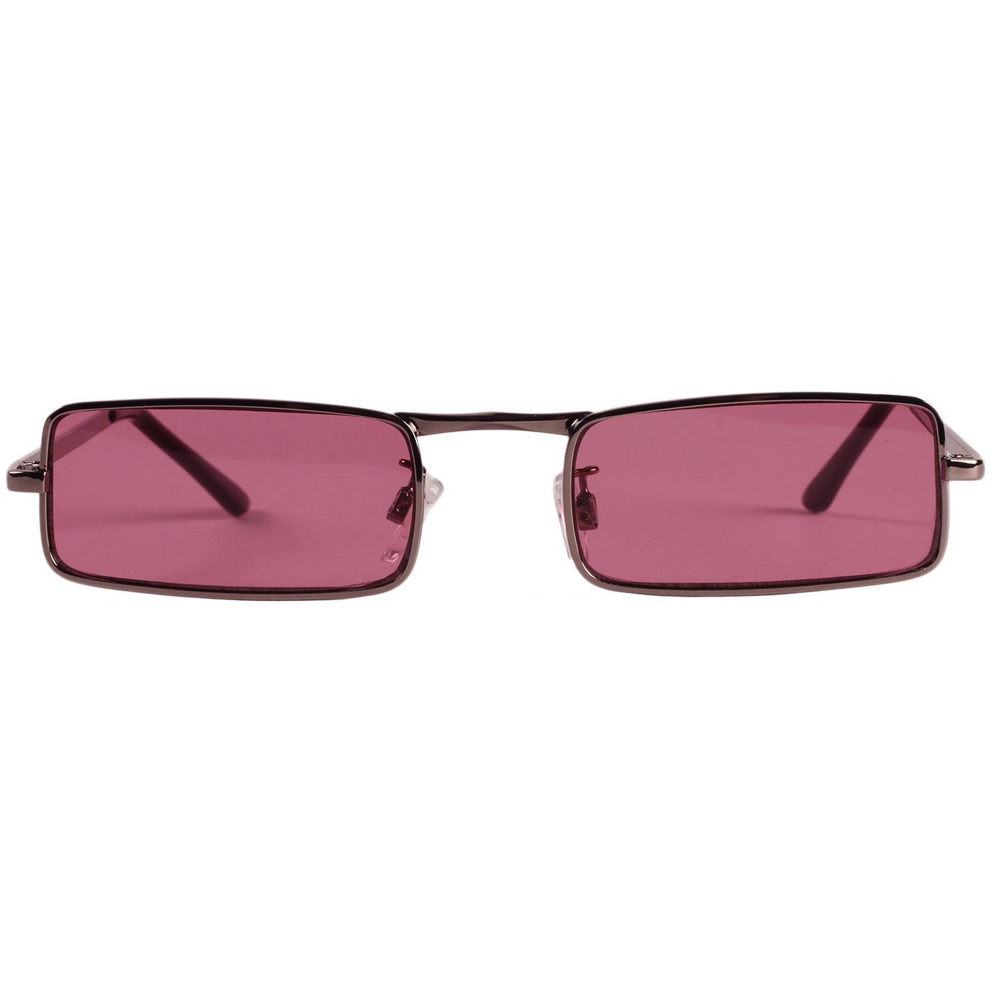 Madcap England Mod 60s McGuinn Granny Glasses Sunglasses in Pink