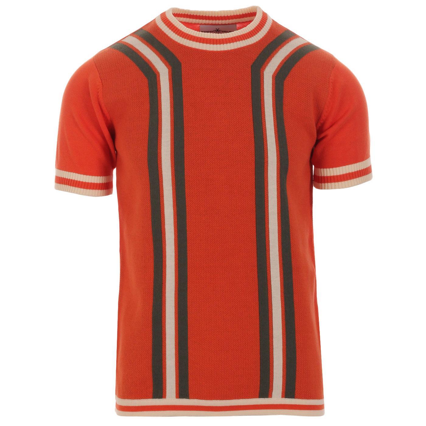 Madcap England Modernista Retro Mod Knitted Contoured Stripe Tee in Koi