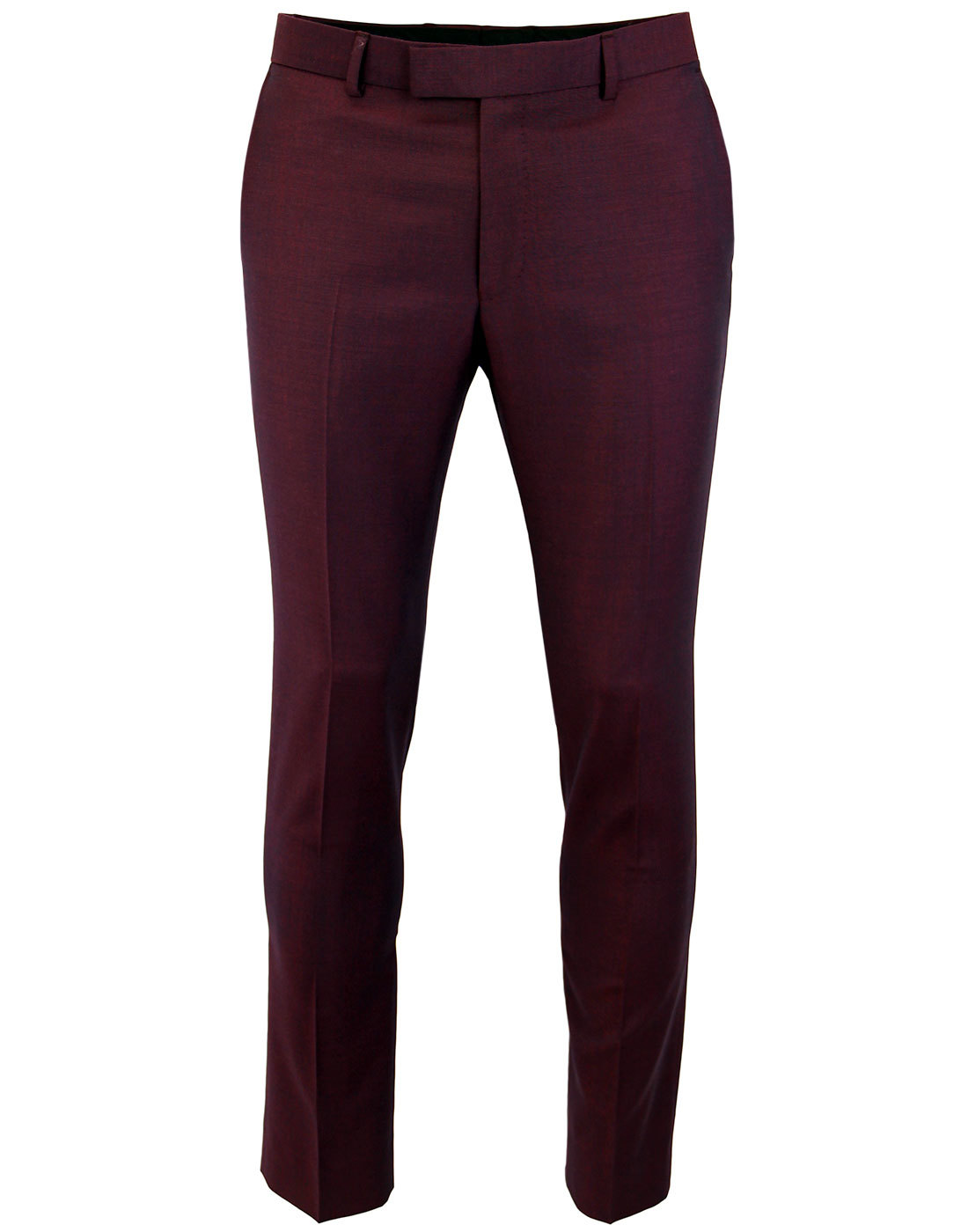 madcap england mod mohair tonic trousers burgundy