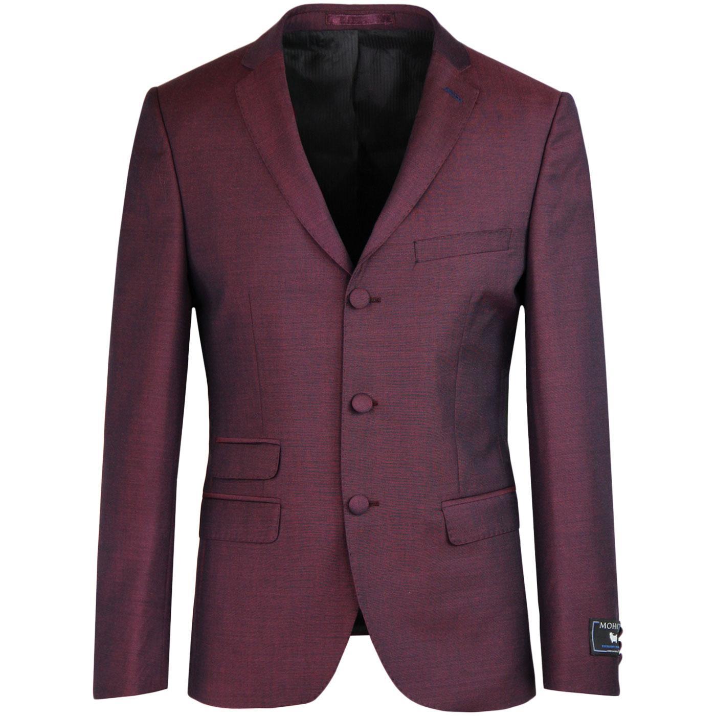 MADCAP ENGLAND Mod Mohair Tonic Suit Jacket (Burg)