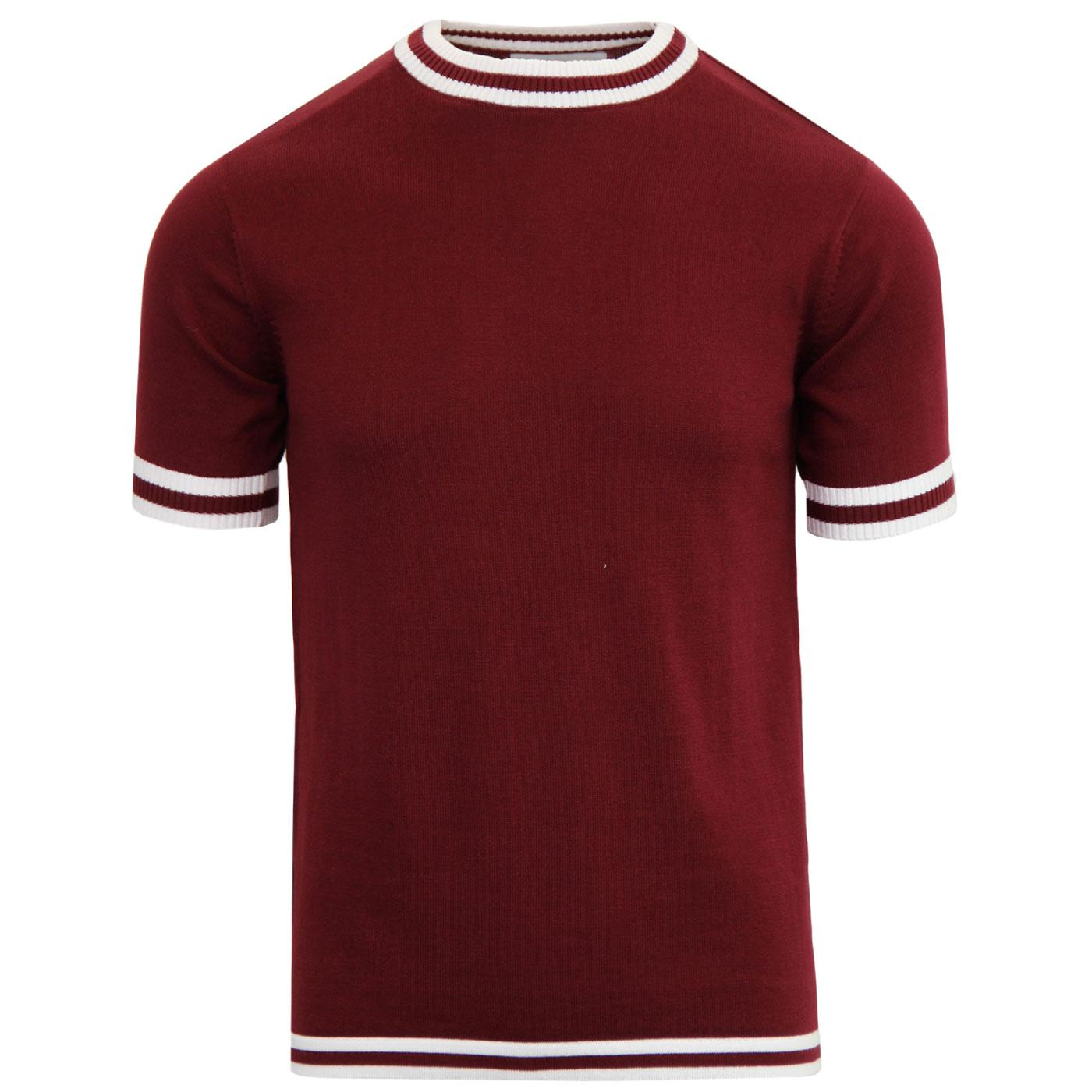 Moon MADCAP ENGLAND Mod Tipped Knit Tee ZINFANDEL