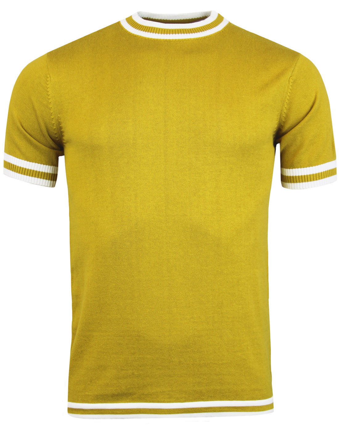 madcap england moon 60s mod tipped knit tee honey