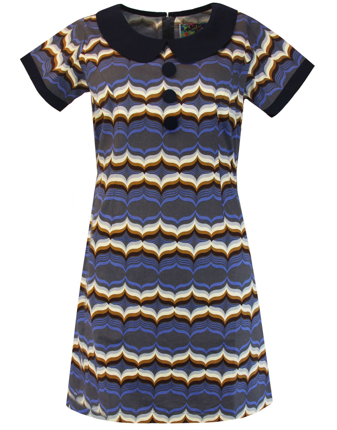 Dollierocker Waves MADCAP ENGLAND 60s Mod Dress