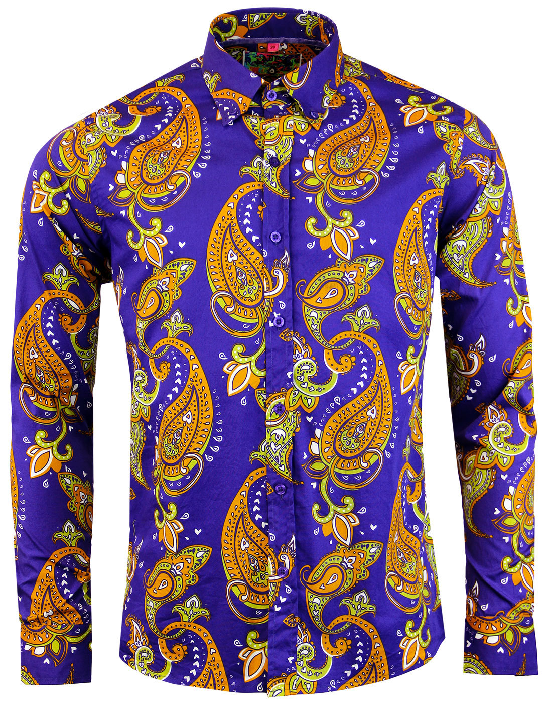 madcap england tanpura paisley trip 60s mod shirt