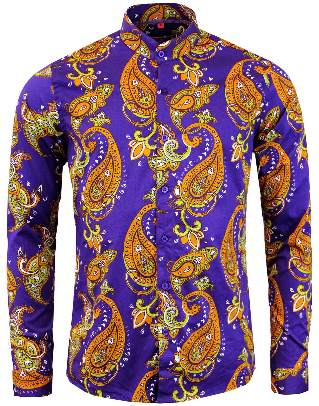 madcap england tanpura paisley mod grandad shirt