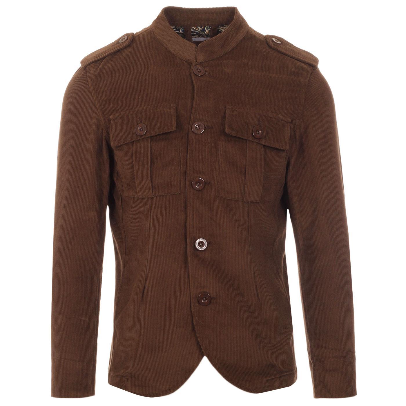 Pepper MADCAP ENGLAND Mod Cord Tunic Jacket COCOA