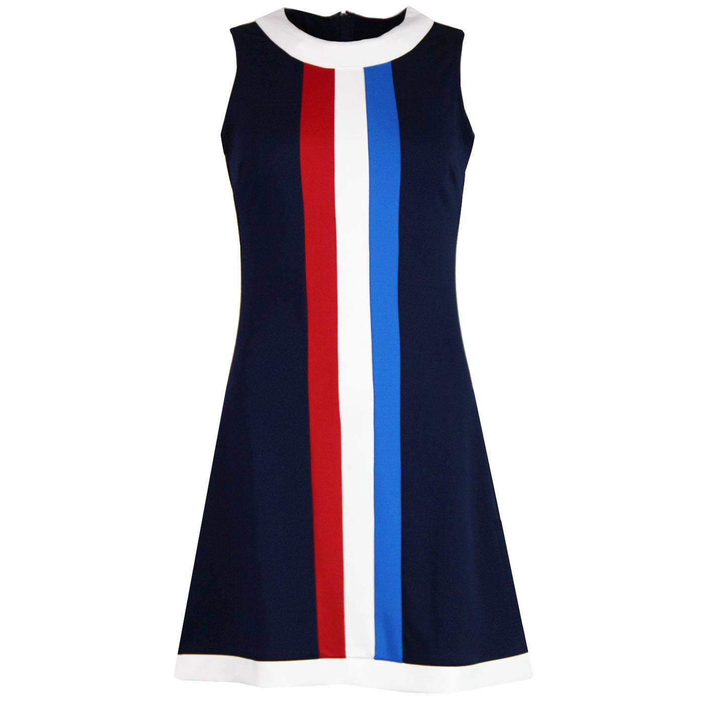 Polly MADCAP ENGLAND 60s Mod Stripe Jersey Dress