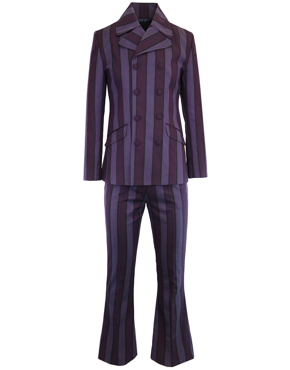 MADCAP ENGLAND Backbeat Mod 60s Flare Suit Purple