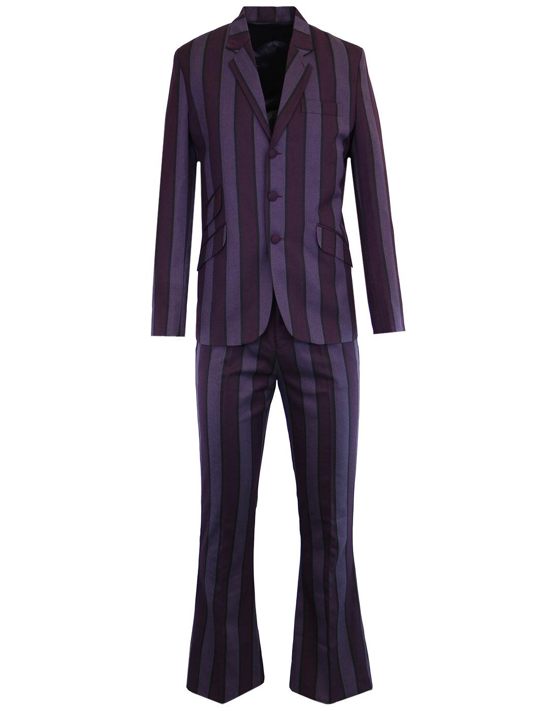 MADCAP ENGLAND Offbeat Mod 60s Flare Suit - Purple