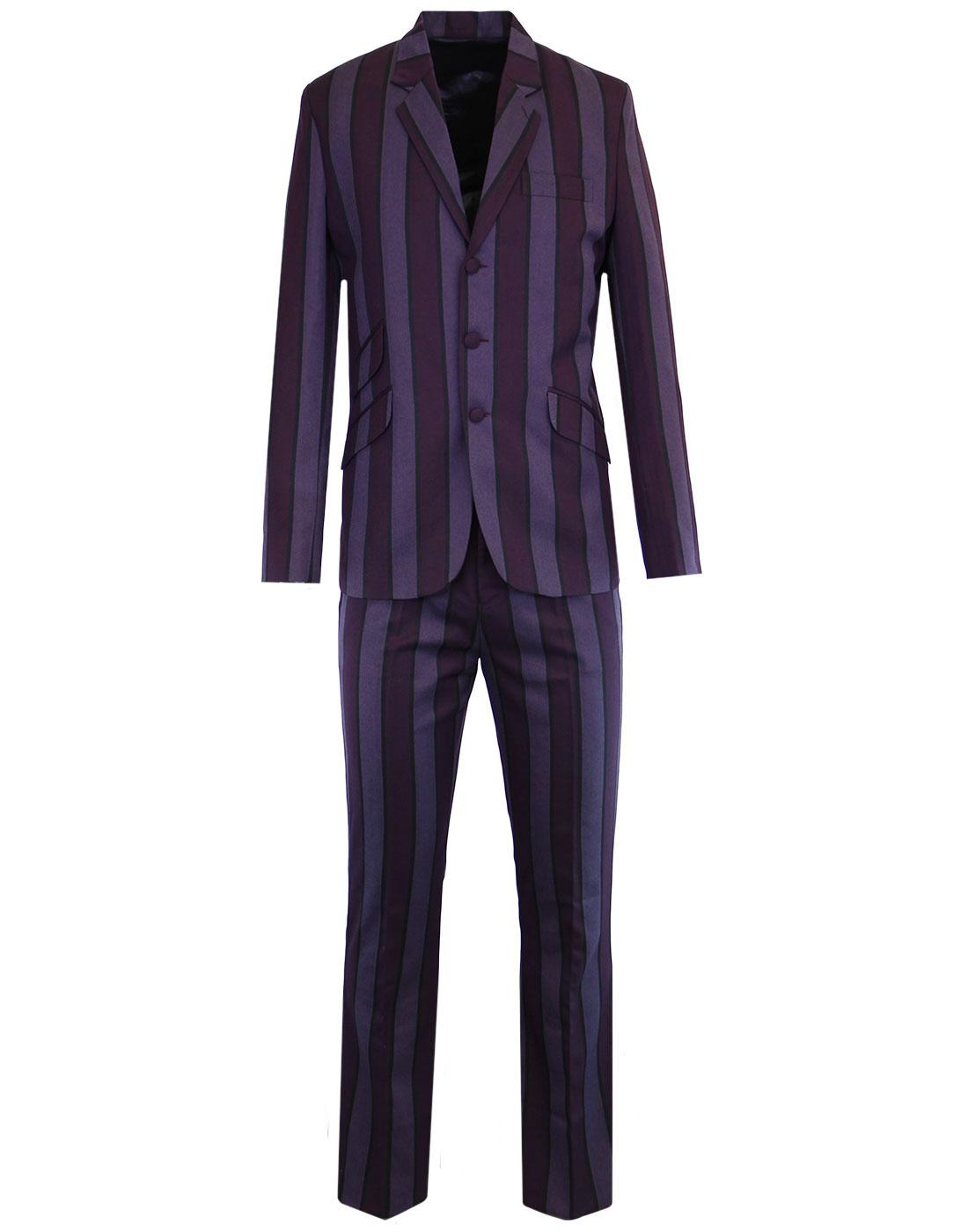 MADCAP ENGLAND Offbeat Mod 60s Slim Suit in Purple