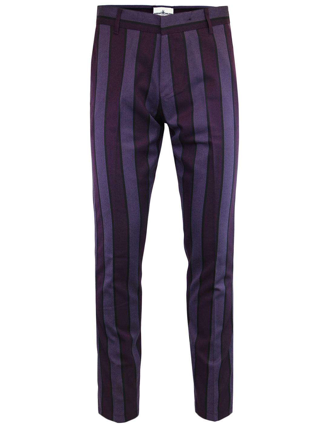 madcap england retro 60s mod stripe slim trousers