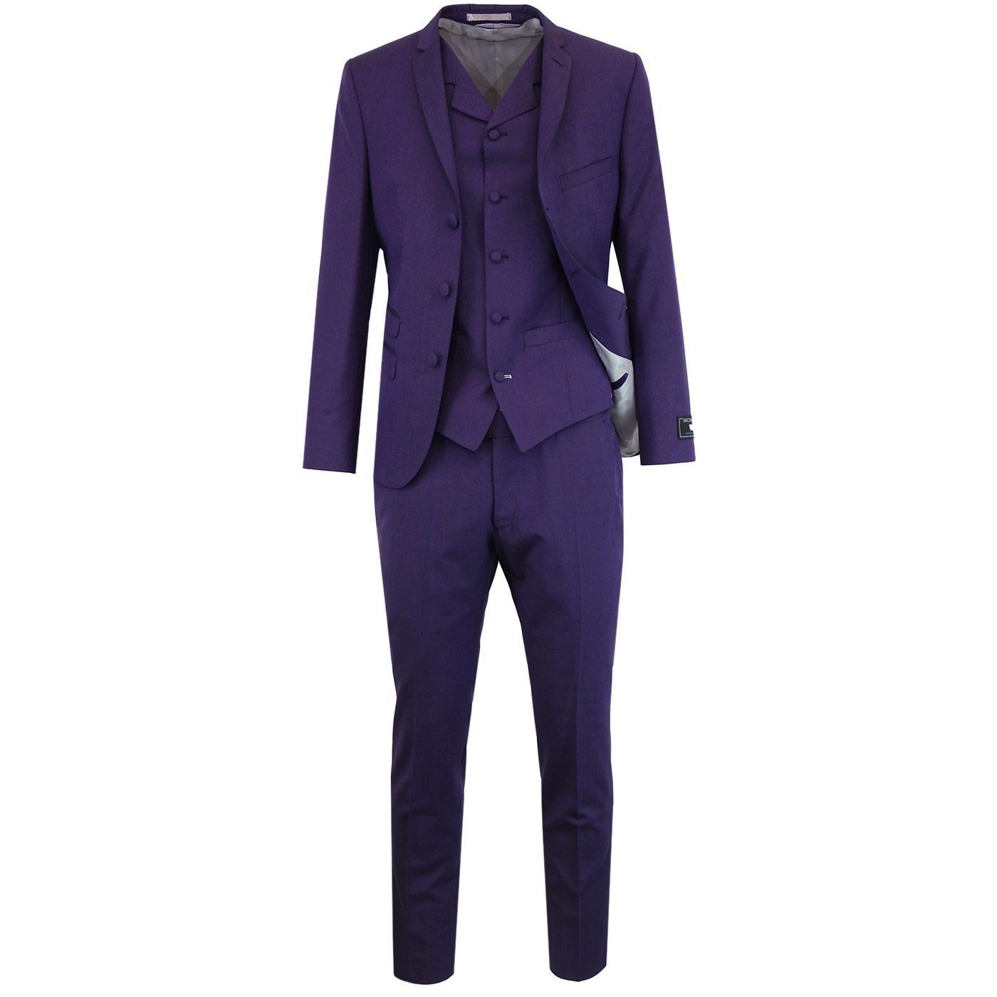 MADCAP ENGLAND 60s Mod Mohair Tonic Suit in Purple