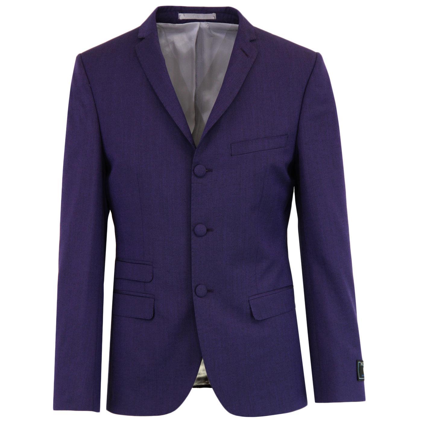 MADCAP ENGLAND Mod Mohair Tonic Suit Blazer PURPLE