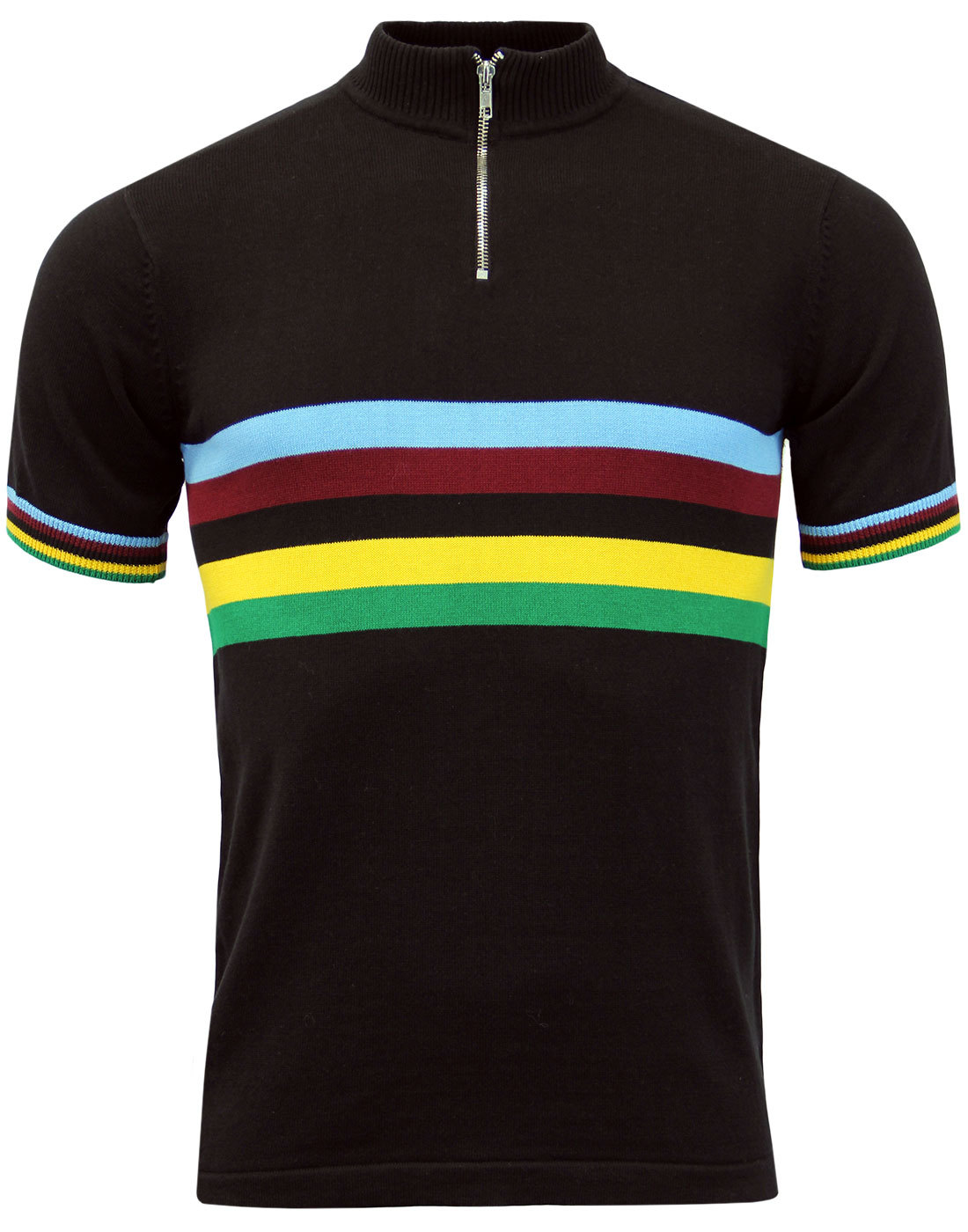 Velo MADCAP ENGLAND Rainbow Stripe Cycling Top (B)