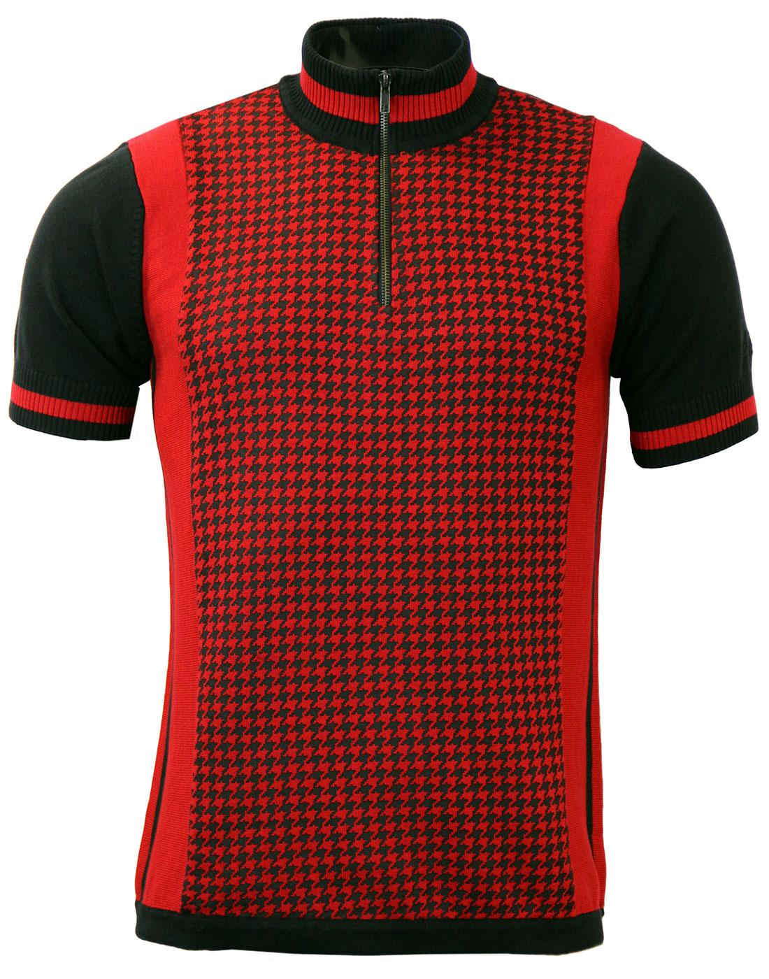 Roue MADCAP ENGLAND 60s Mod Dogtooth Cycling Top R