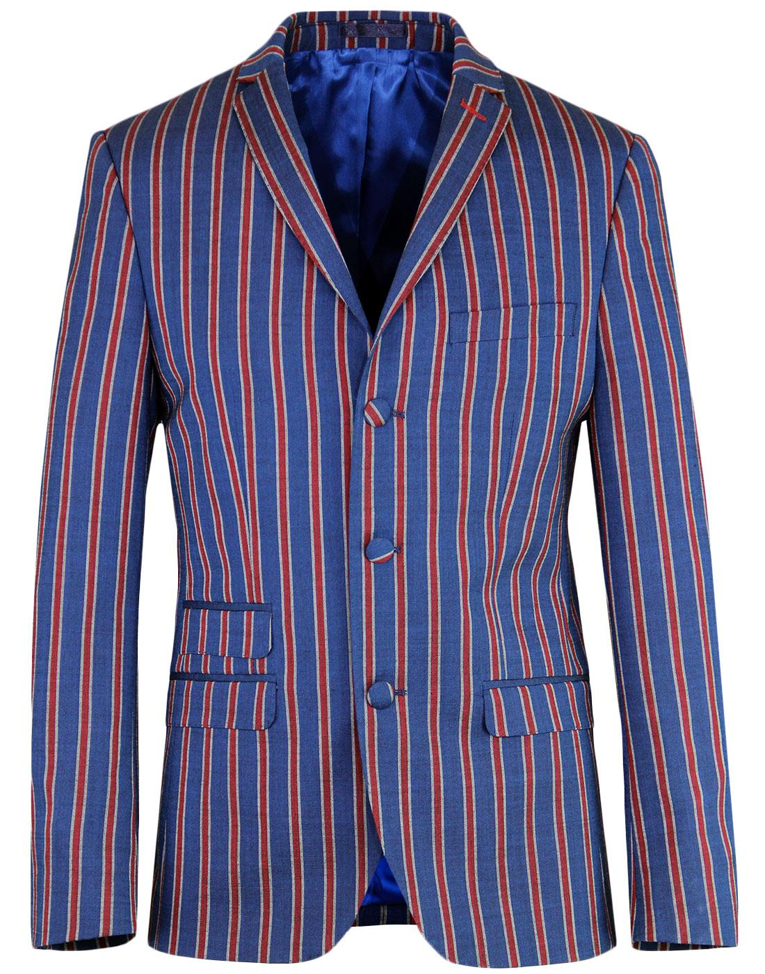 madcap england regatta stripe 3 button suit jacket