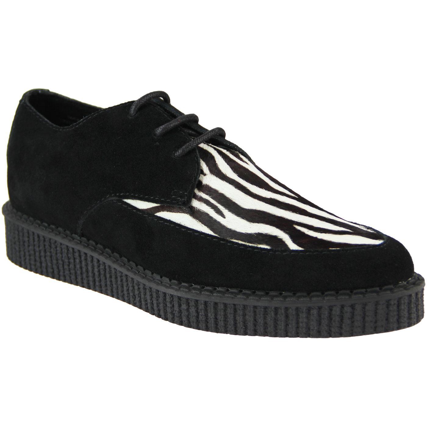 Teddy Boy Zebra Print Creeper Shoes