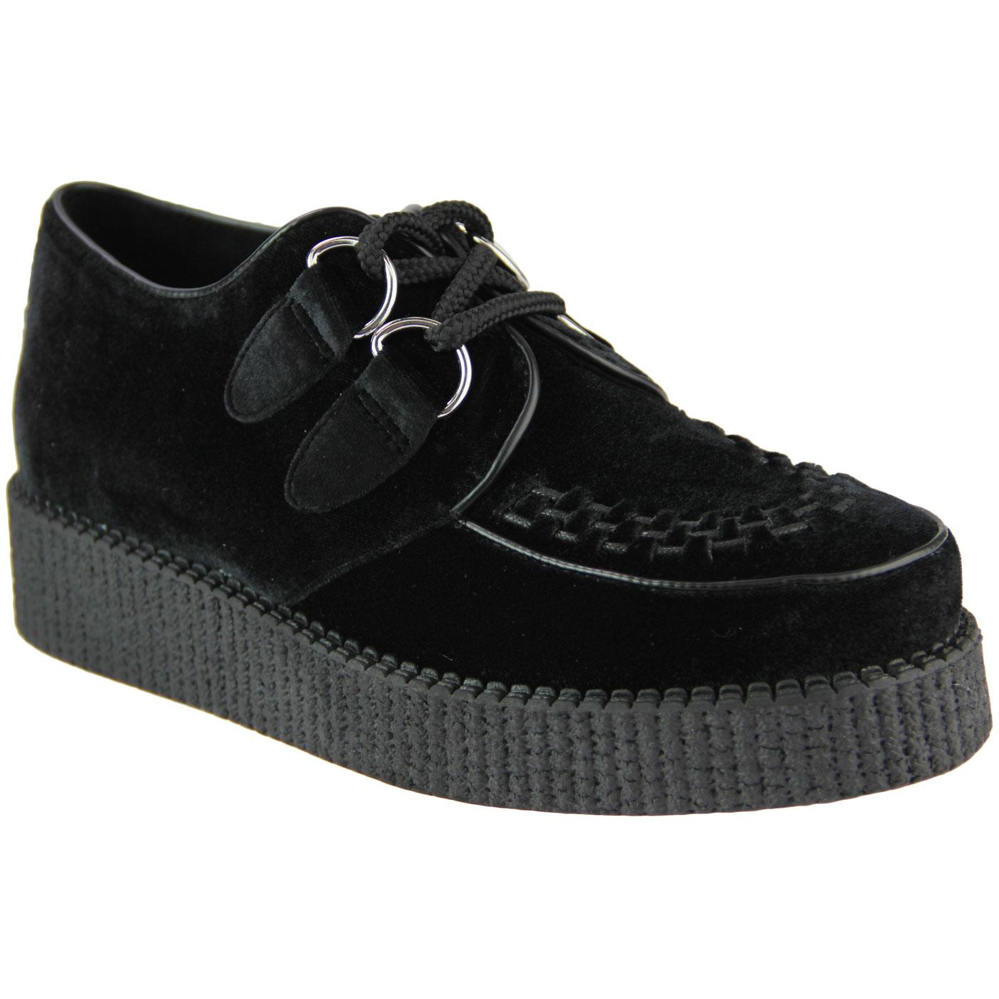 Madcap England Rumble Women's Retro Velvet Brothel Creeper Shoes
