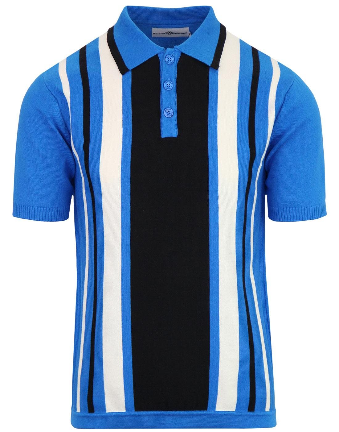 madcap england folklore mod stripe knit polo blue