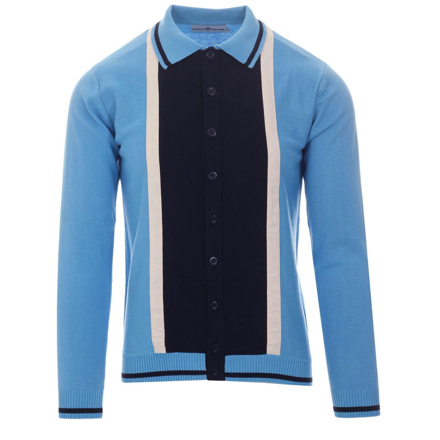 Marriott Suede MADCAP ENGLAND Mod Polo Cardigan BB