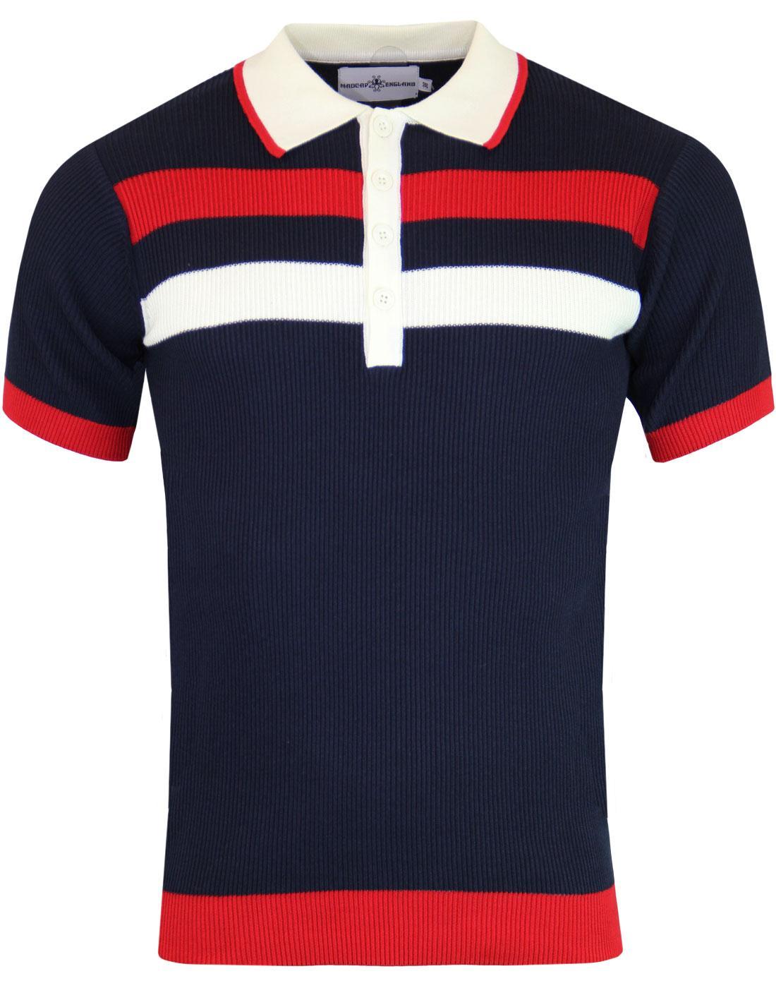 Terry MADCAP ENGLAND Retro Mod Rib Stripe Polo N