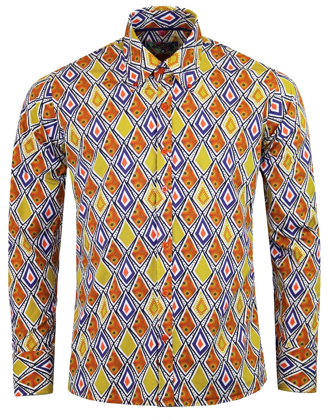 madcap england tribal trip 60s mod diamond shirt