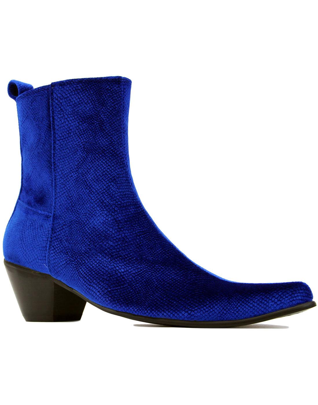 madcap england velvet casbah chelsea boots royal