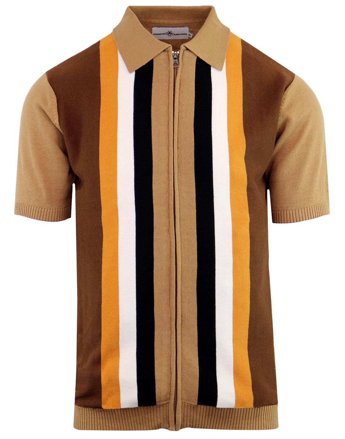 madcap england victor 60s mod stripe polo cardigan