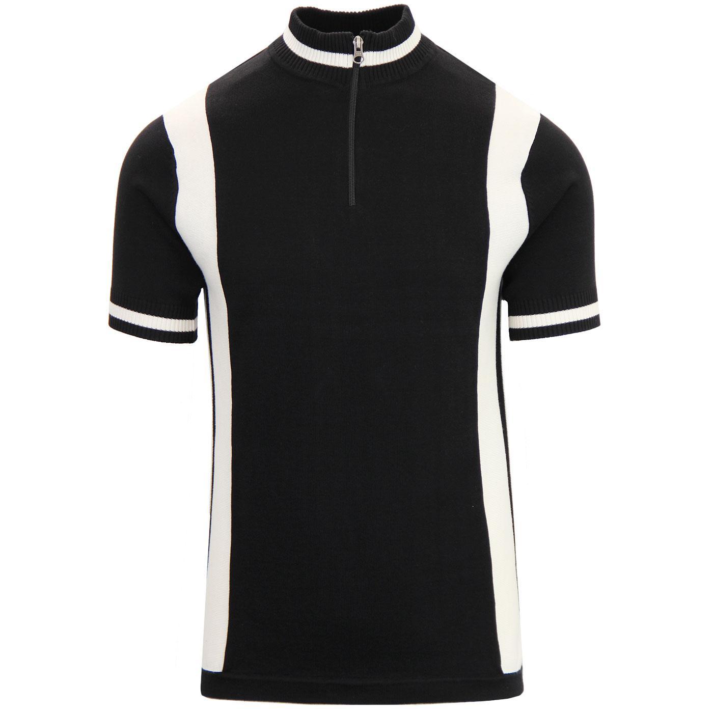 Vitesse MADCAP ENGLAND Retro Mod Cycling Top BLACK