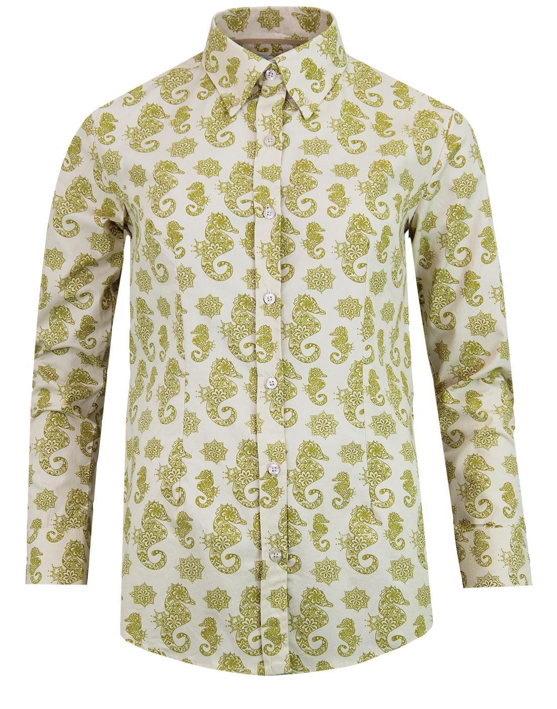 madcap england poseidons seahorse retro 60s shirt