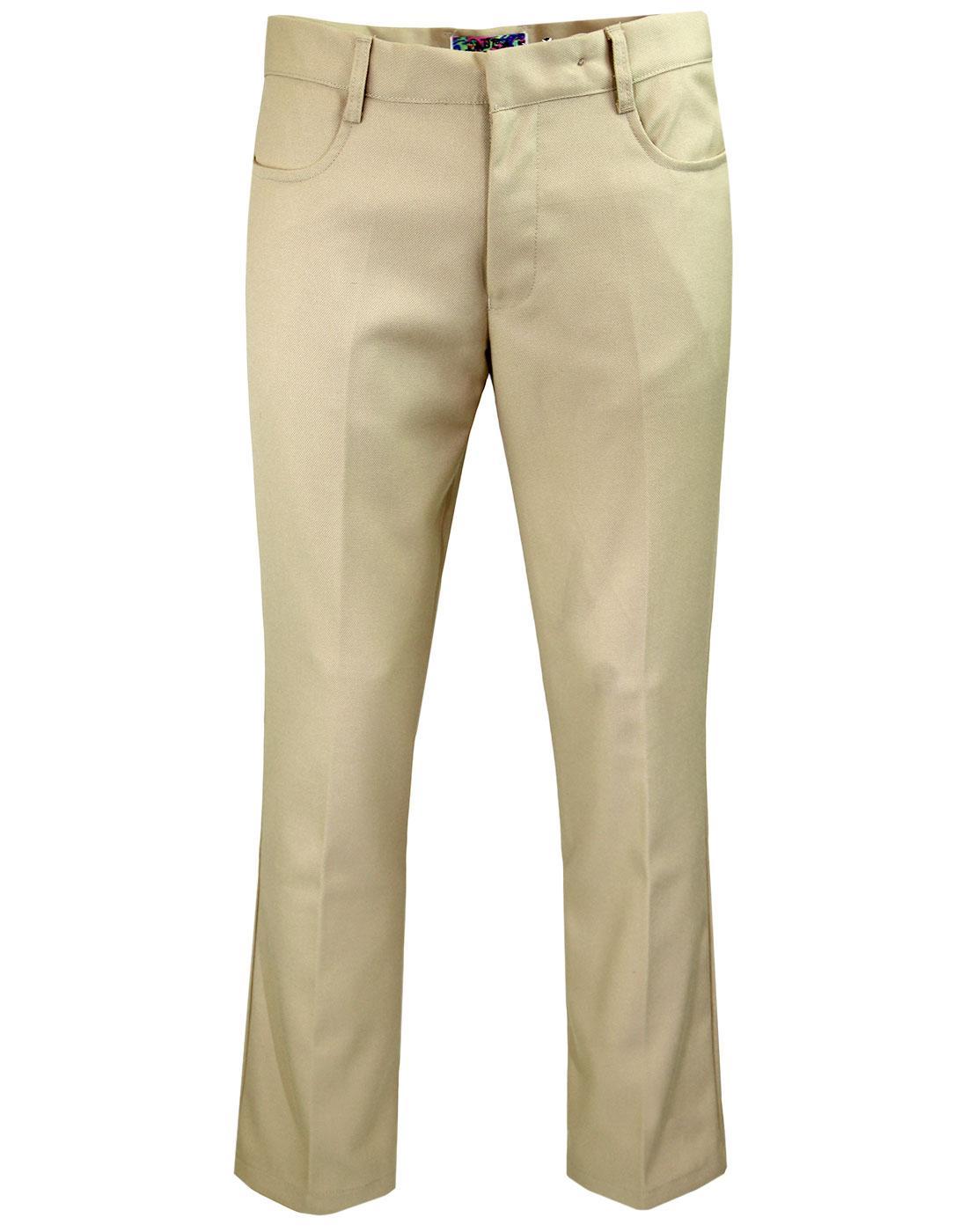 madcap england logan hopsack bootcut trousers sand
