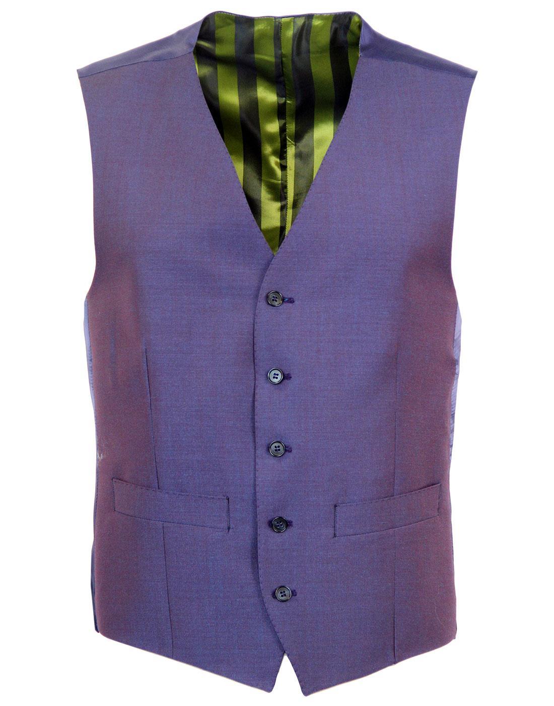 MADCAP ENGLAND 60s Mod Tonic V Neckline Waistcoat