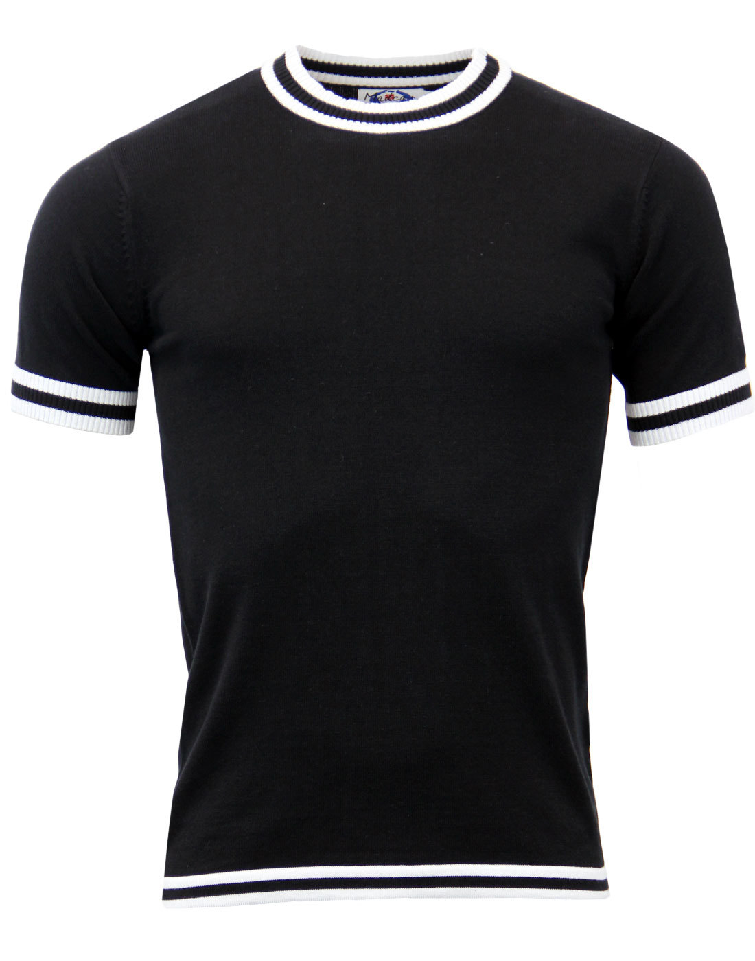 Moon MADCAP ENGLAND 60s Mod Tipped Knitted T-shirt
