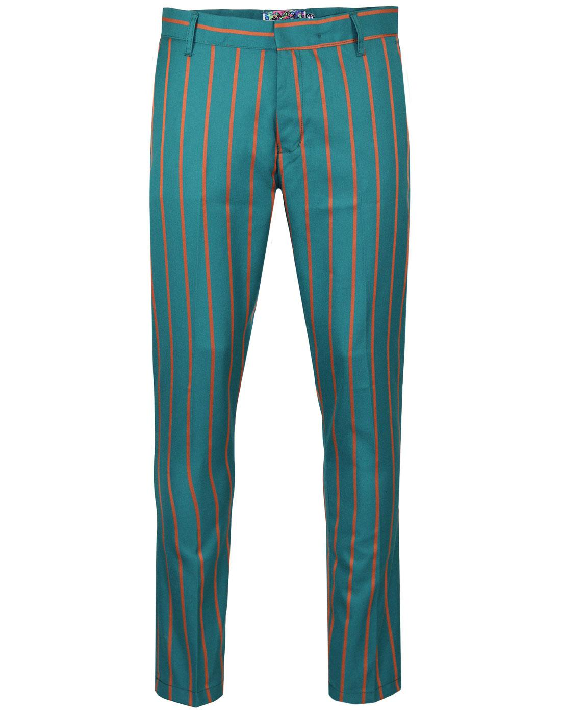 Offbeat MADCAP ENGLAND 60s Mod Stripe Trousers T/J