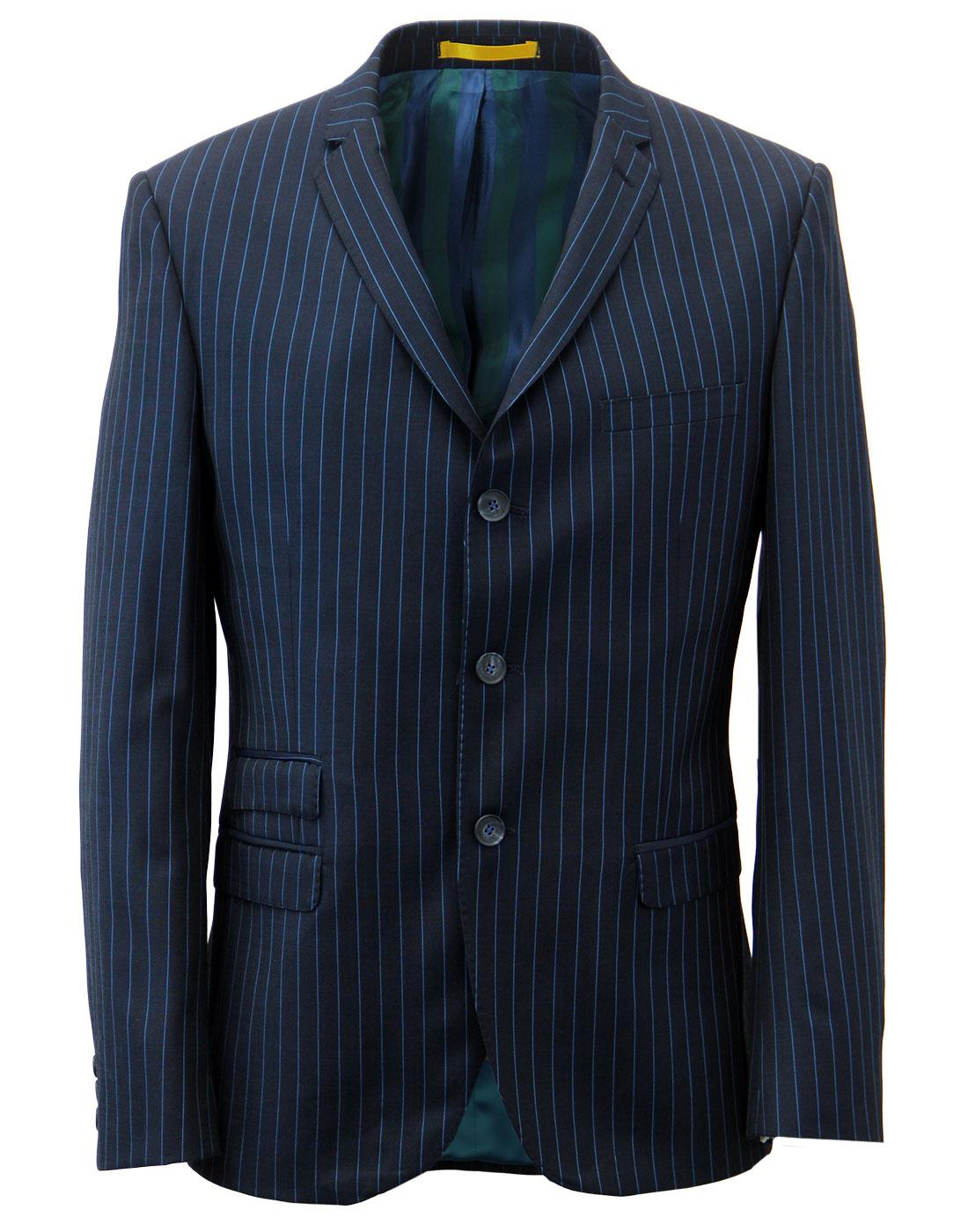 MADCAP ENGLAND Electric Pinstripe Mod Suit Jacket