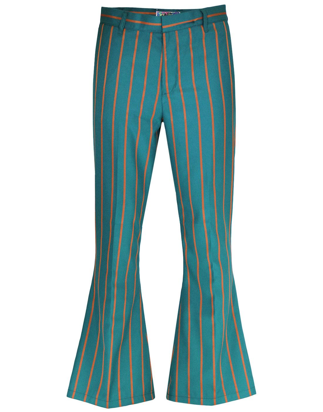 madcap england relic stripe bellbottom trousers